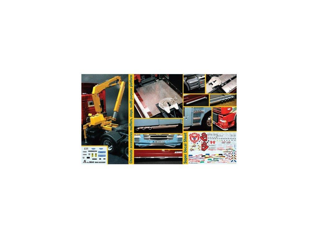 1442 model kit truck italeri 3854 truck accessoires set ii 1 24