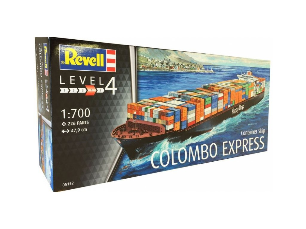 1475 plastovy model lod revell 05152 container ship colombo express 1 700