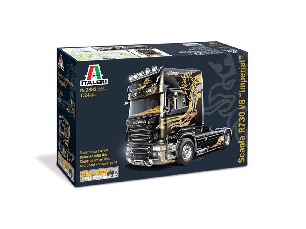 1478 model kit truck italeri 3883 scania r v8 topline imperial 1 24