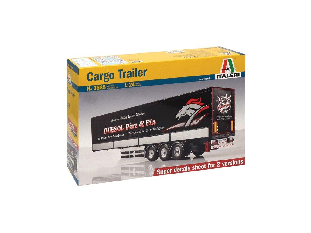 1484 model kit naves italeri 3885 cargo trailer 1 24
