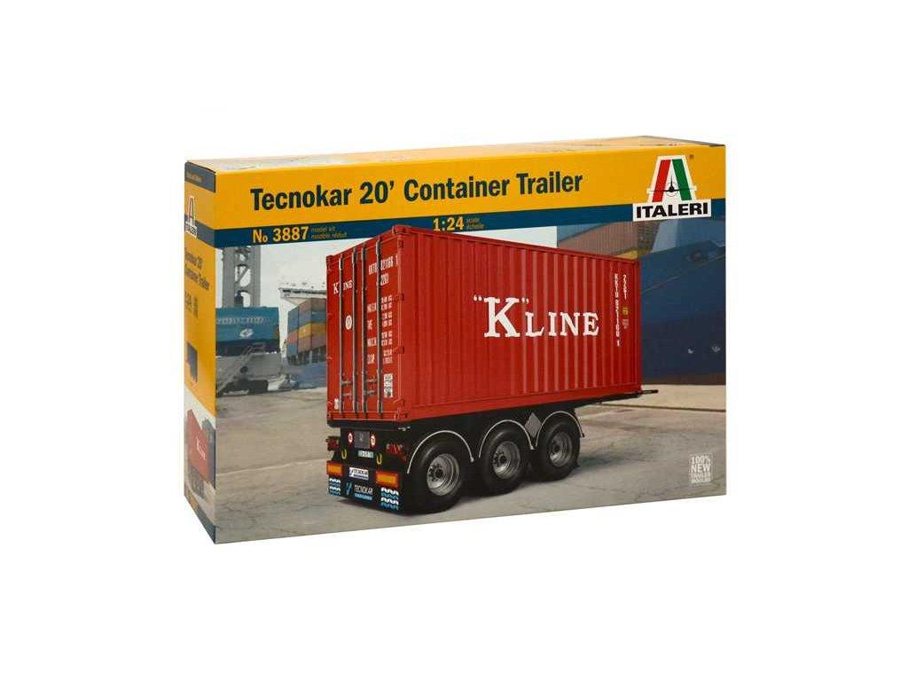 1487 model kit naves italeri 3887 tecnokar 20 container trailer 1 24