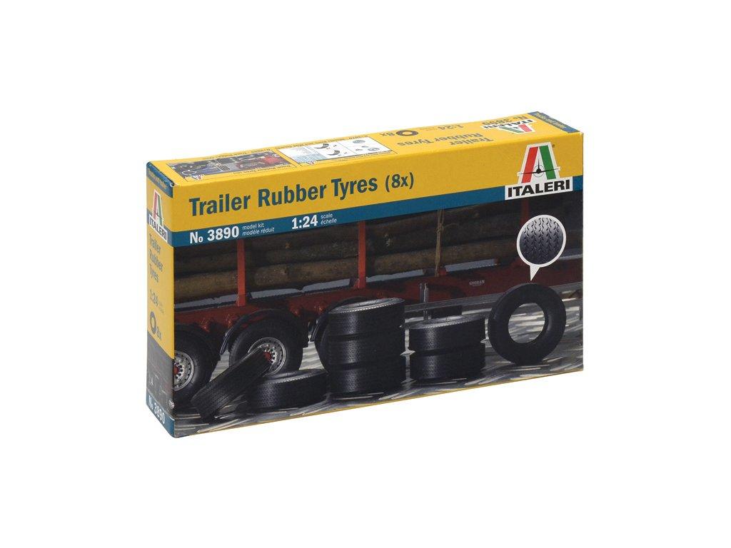 1496 model kit doplnky italeri 3890 trailer rubber tyres 8x 1 24