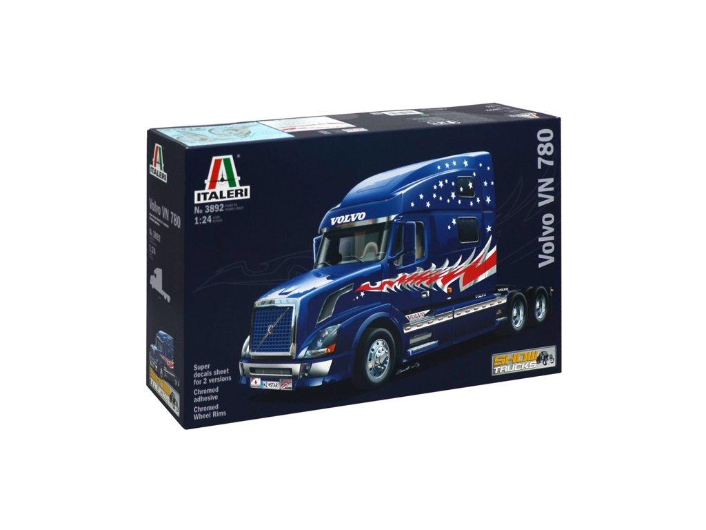 1499 model kit truck italeri 3892 volvo vn 780 1 24
