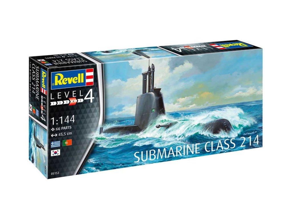 1505 plastovy model ponorka revell 05153 submarine class 214 1 144