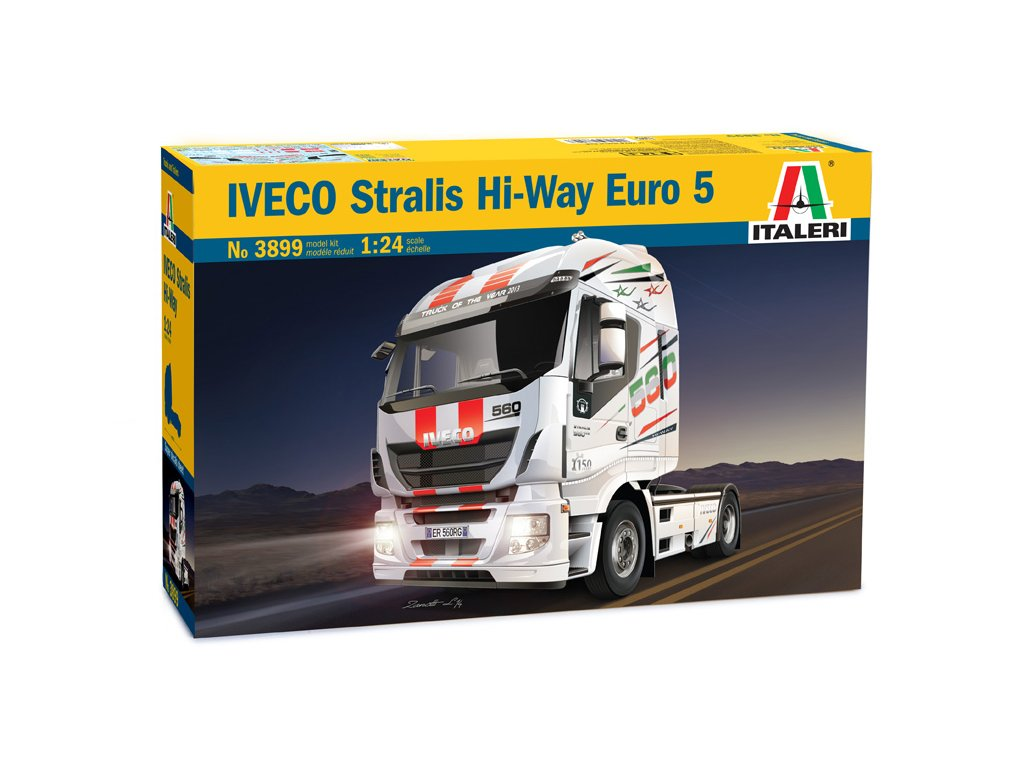 1514 model kit truck italeri 3899 iveco stralis hi way euro 5 1 24