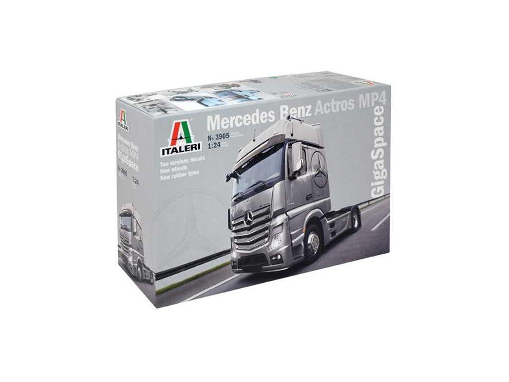 1523 model kit truck italeri 3905 mercedes benz actros mp4 gigaspace 1 24
