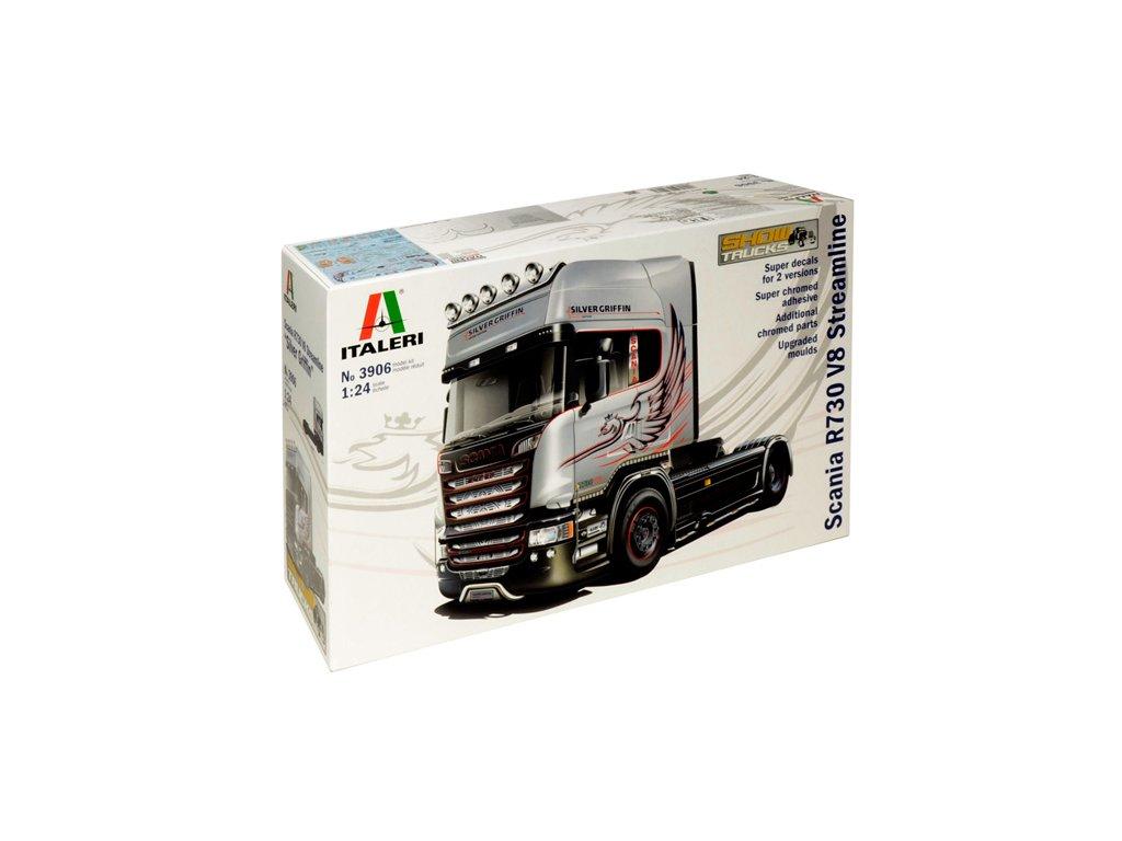 1526 model kit truck italeri 3906 scania r730 streamline 4x2 1 24