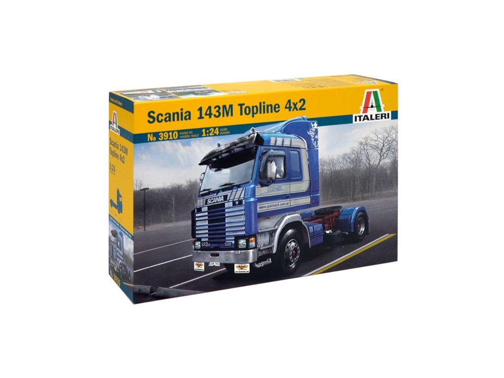 1541 model kit truck italeri 3910 scania 143m topline 4x2 1 24