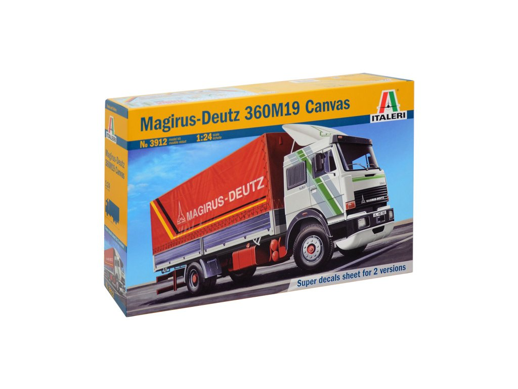 1547 model kit truck italeri 3912 magirus deutz 360m19 canvas 1 24
