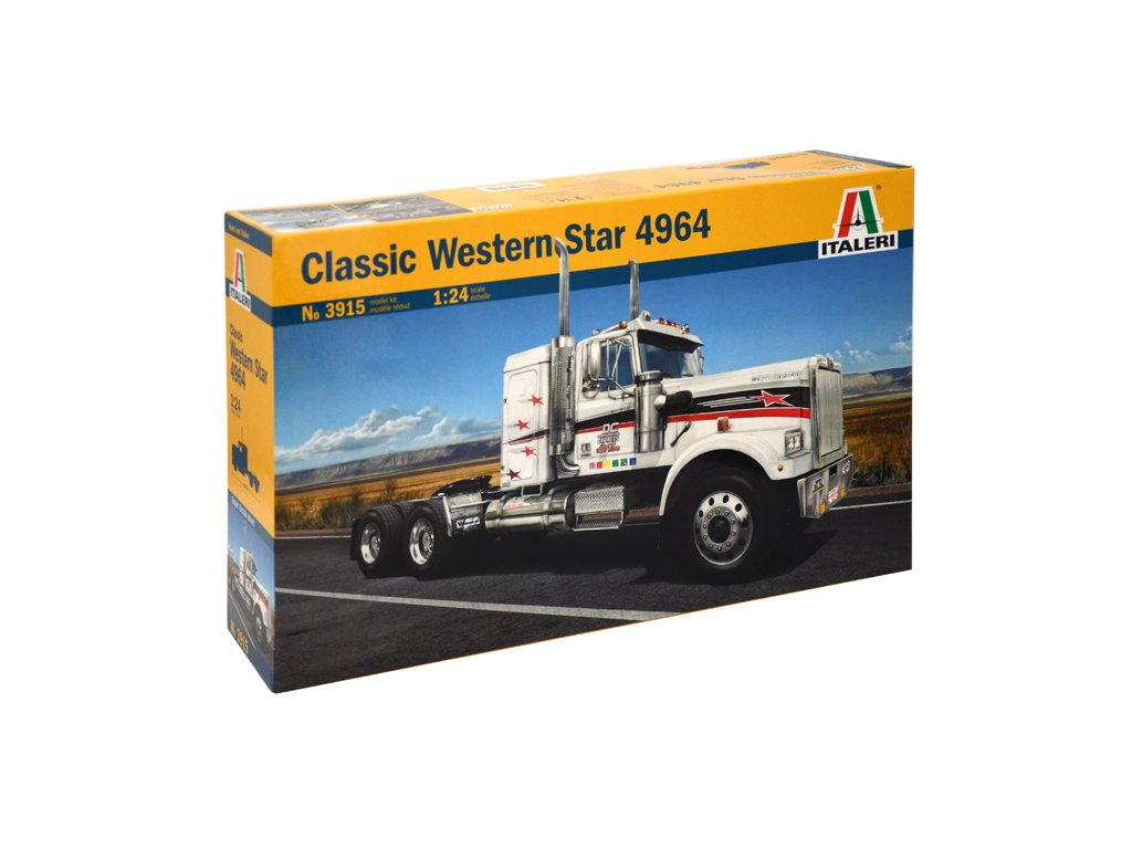 1553 model kit truck italeri 3915 classic western star 1 24