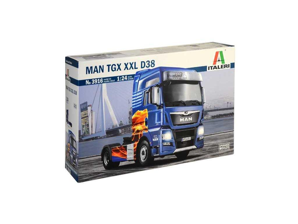 1556 model kit truck italeri 3916 man tgx xxl d38 1 24