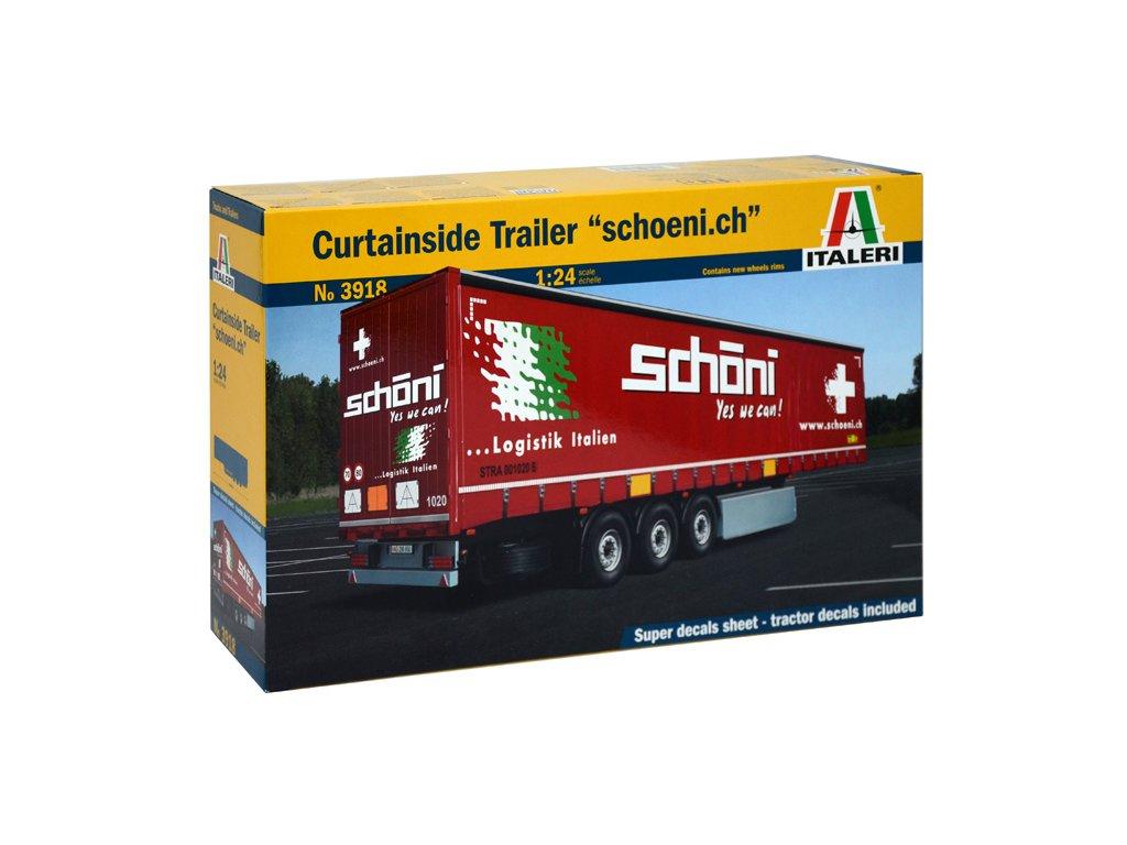 1562 model kit naves italeri 3918 curtainside trailer 1 24
