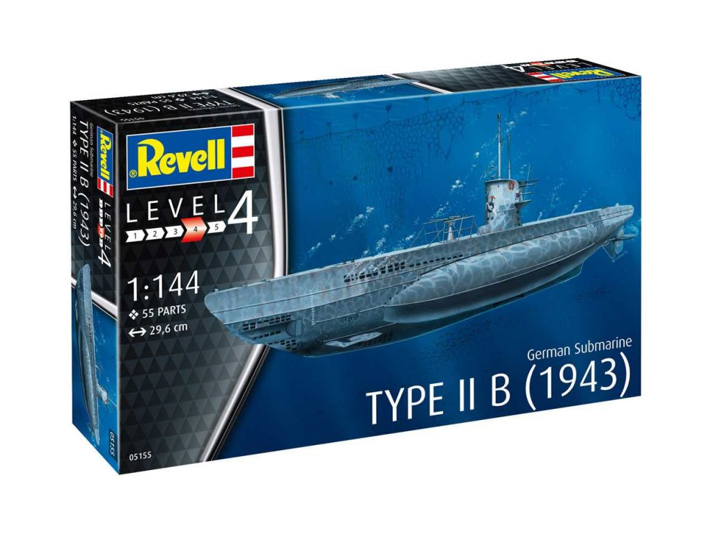 1571 plastovy model ponorka revell 05155 german submarine type iib 1943 1 144