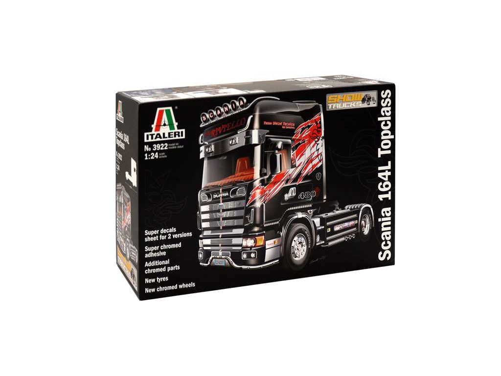 1574 model kit truck italeri 3922 scania 164 l topclass 1 24