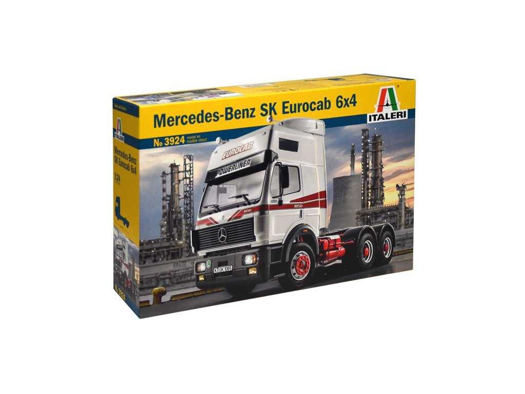 1580 model kit truck italeri 3924 mercedes benz sk eurocab 6x4 1 24