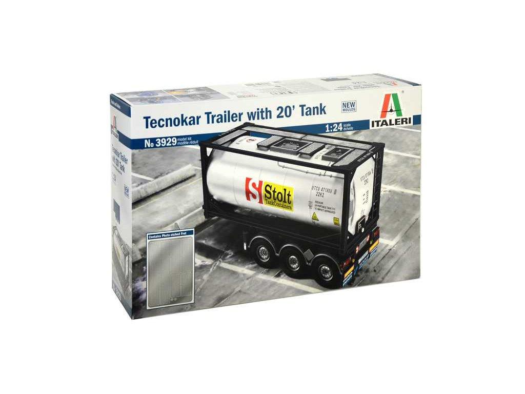 1586 model kit naves italeri 3929 tecnokar trailer with 20 tank 1 24
