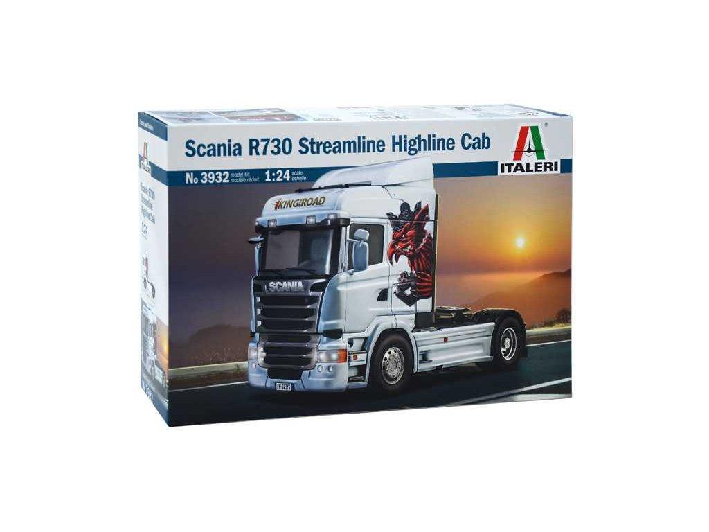 1595 model kit truck italeri 3932 scania r730 streamline highline cab 1 24