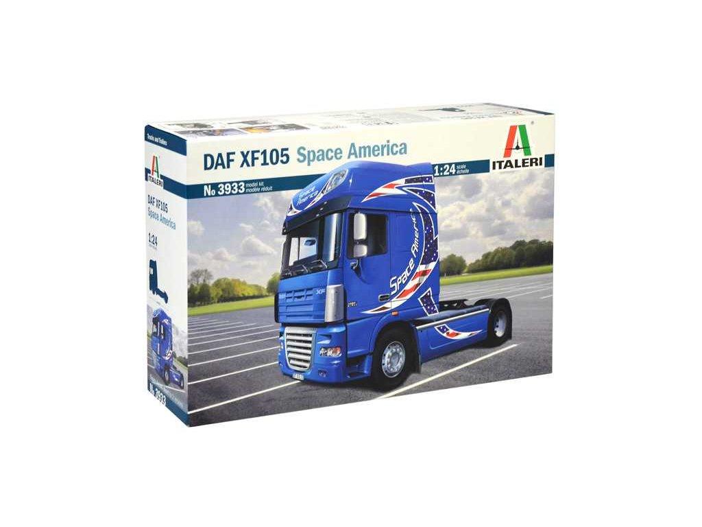 1598 model kit truck italeri 3933 daf xf105 space america 1 24