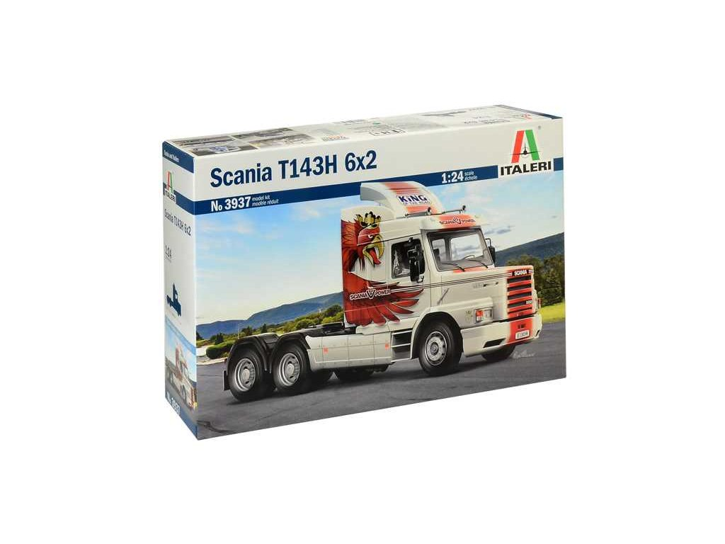 1607 model kit truck italeri 3937 scania t143h 6x2 1 24