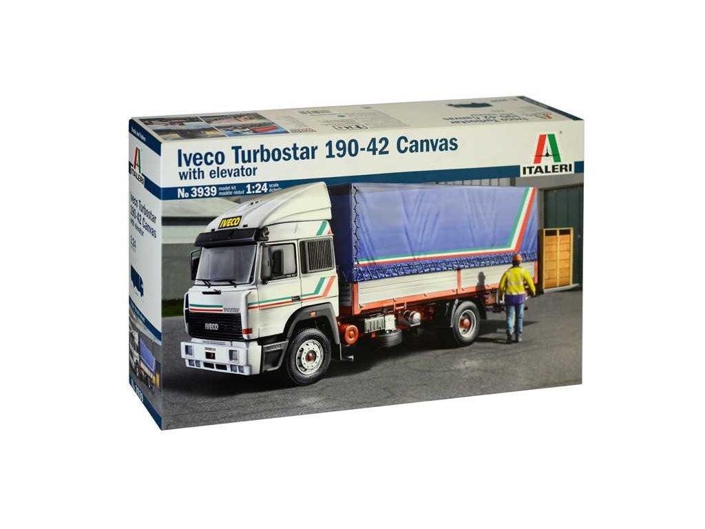 1610 model kit truck italeri 3939 iveco turbostar 190 42 canvas 1 24