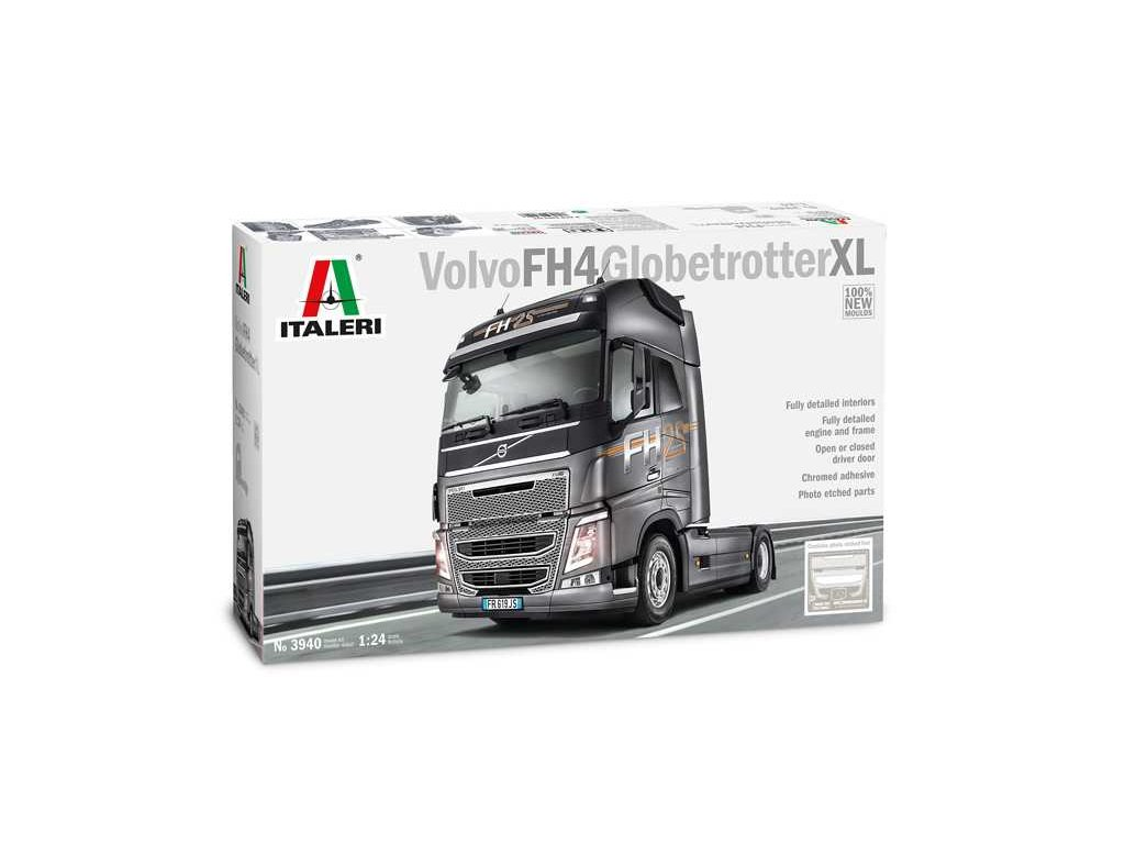 1613 model kit truck italeri 3940 volvo fh4 globetrotter xl 1 24