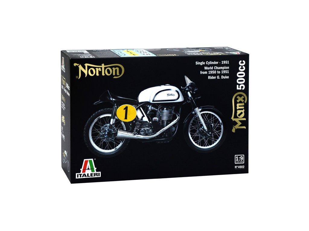 1619 model kit motorka italeri 4602 norton manx 500cc 1951 1 9