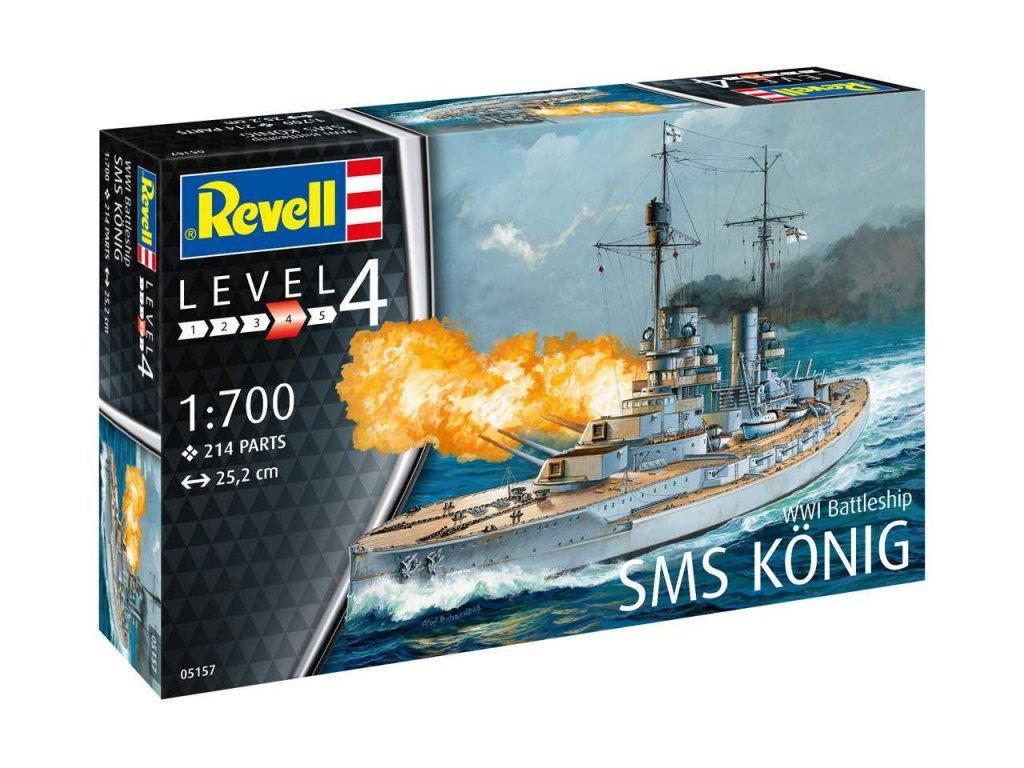 1628 plastovy model lod revell 05157 wwi battleship sms konig 1 700