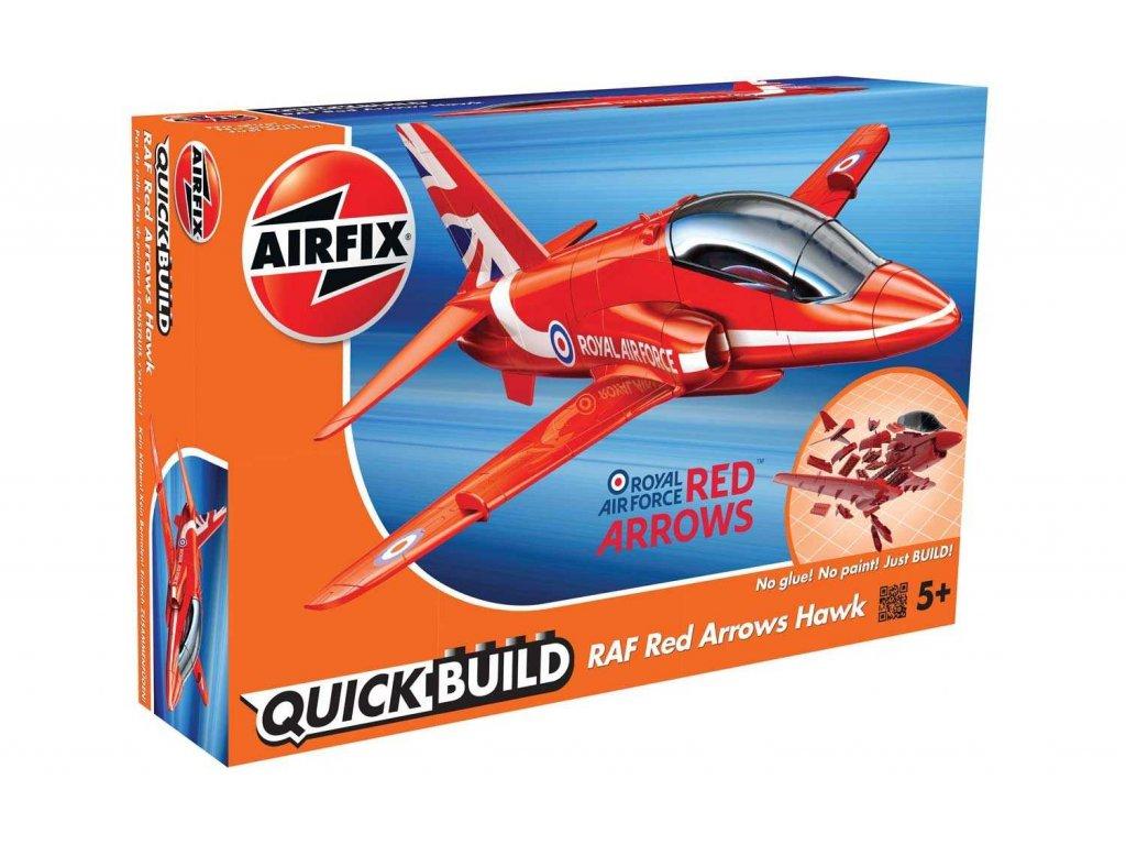 164 quick build lietadlo airfix j6018 raf red arrows hawk