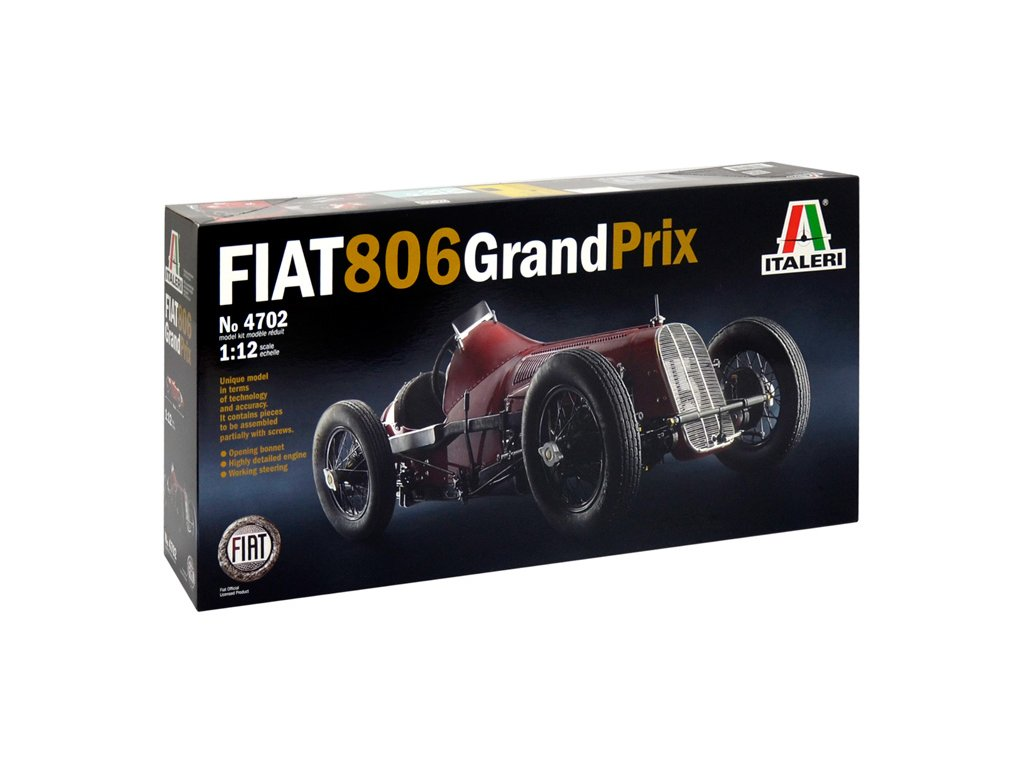 1640 model kit auto italeri 4702 fiat 806 grand prix 1 12