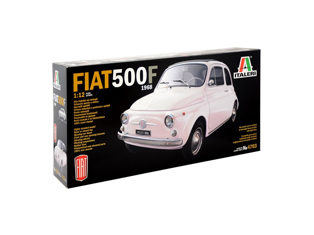1643 model kit auto italeri 4703 fiat 500 f 1968 1 12