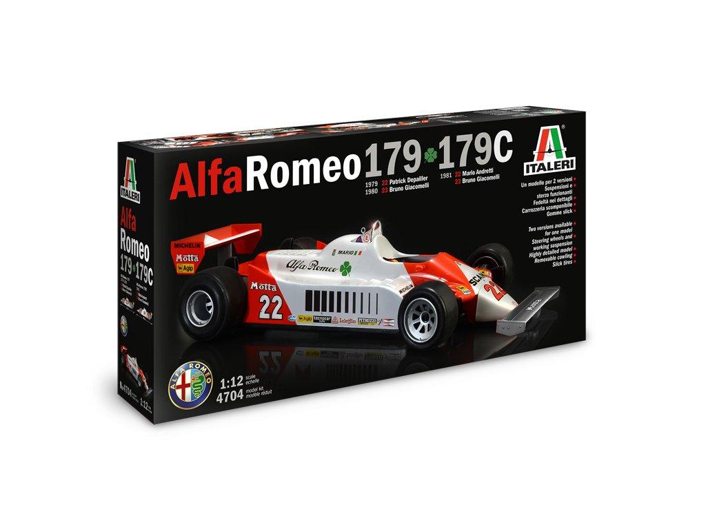 1646 model kit auto italeri 4704 alfa romeo 179 179c 1 12
