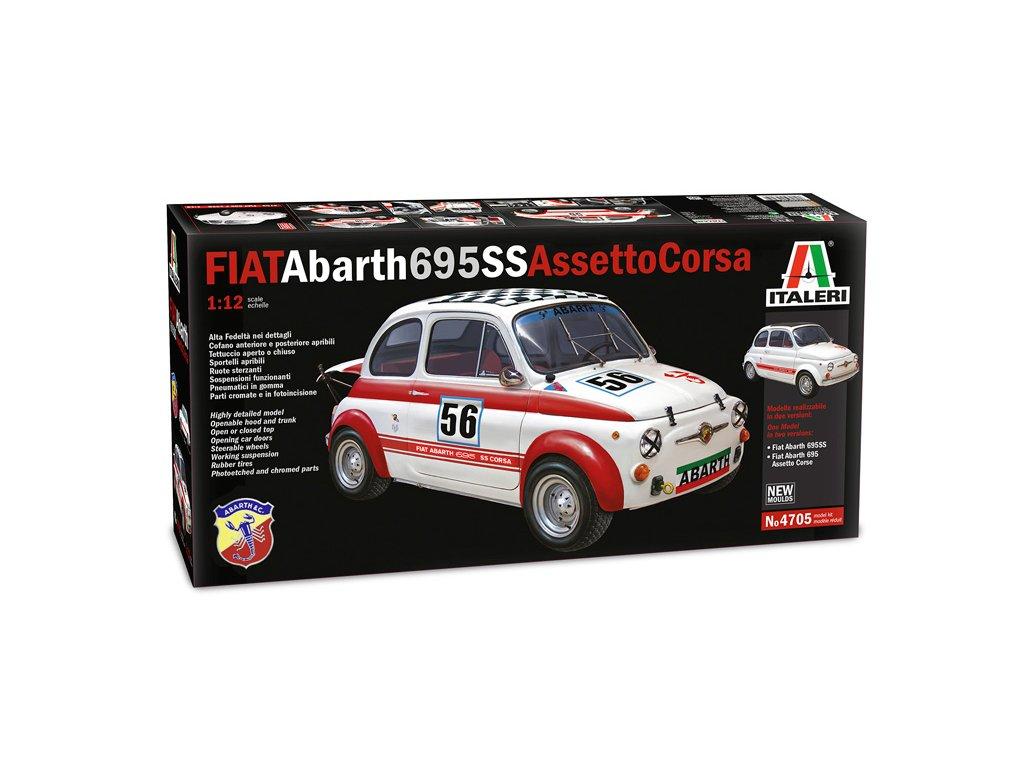 1649 model kit auto italeri 4705 fiat abarth 695ss assetto corsa 1 12