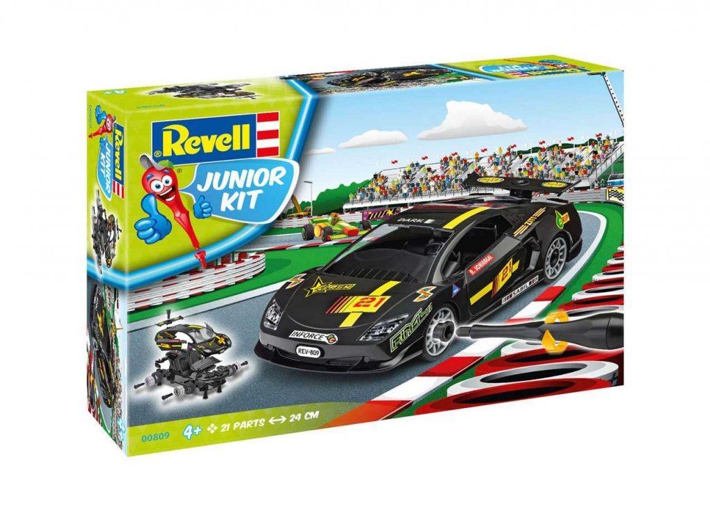 1652 junior kit auto 00809 racing car black 1 20
