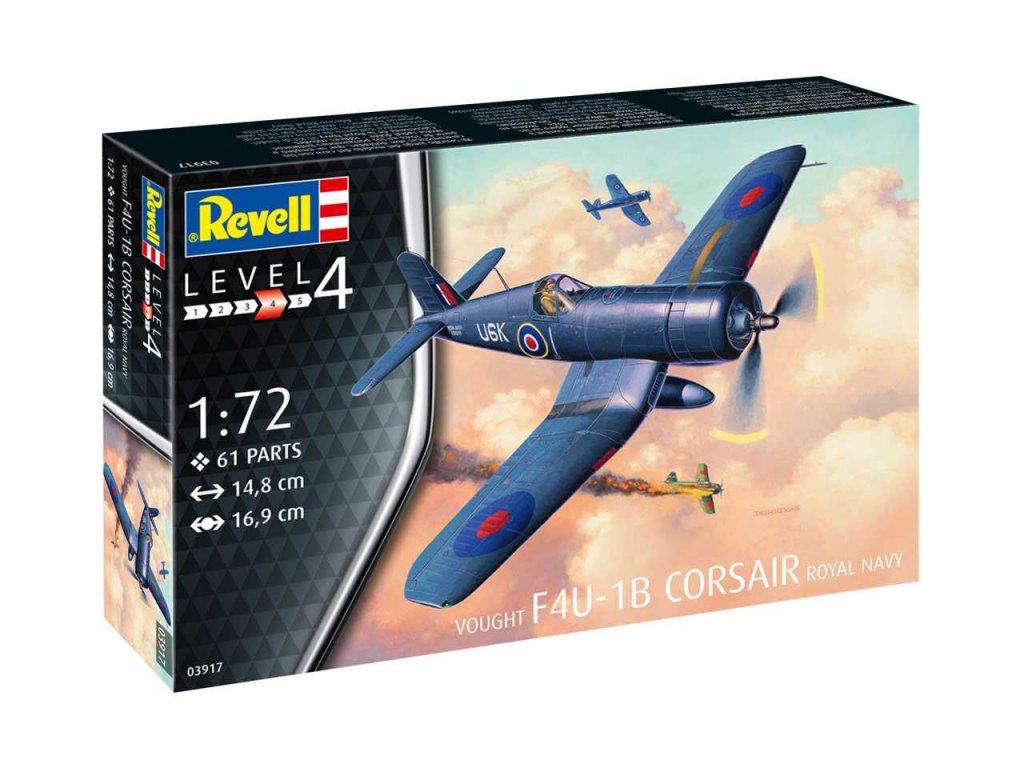 167 plastovy model lietadlo revell 03917 f4u 1b corsair royal navy 1 72