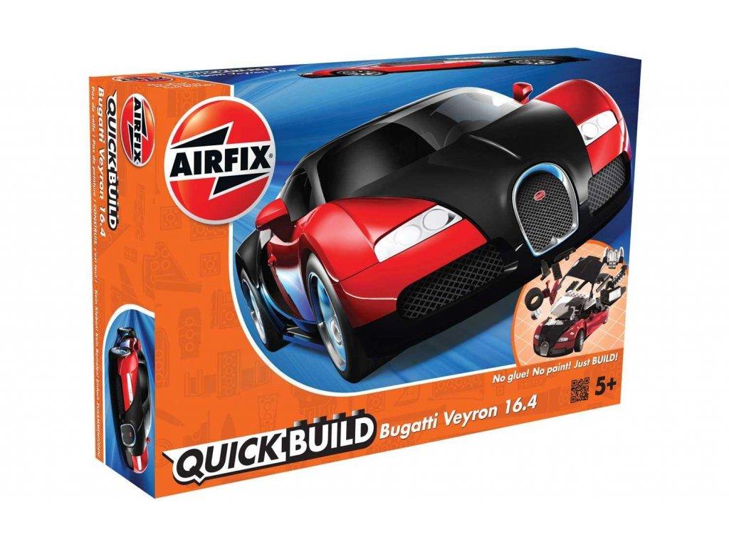 173 quick build auto airfix j6020 bugatti veyron cervena