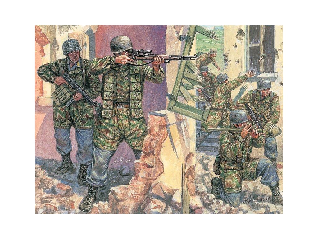 1742 model kit figurky italeri 6045 wwii german paratroopers 1 72