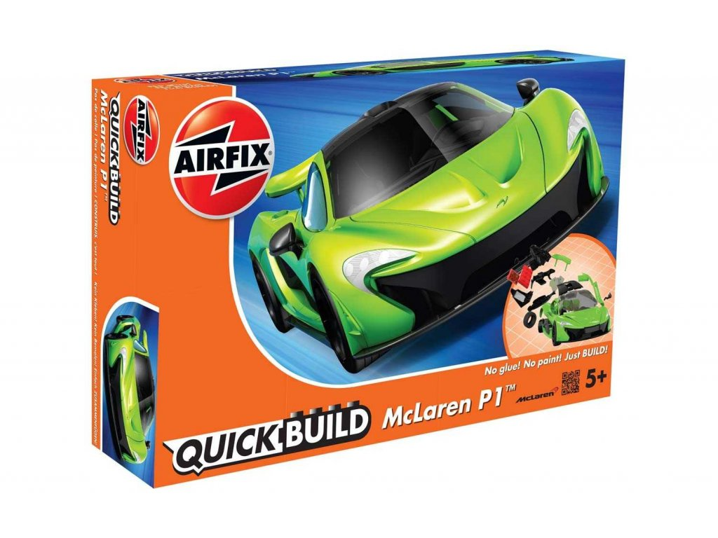 176 quick build auto airfix j6021 mclaren p1 zelena