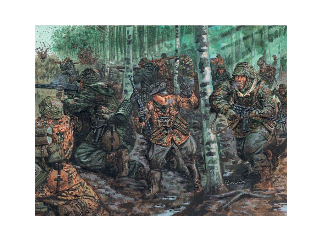 1763 model kit figurky italeri 6068 wwii german elite troops 1 72
