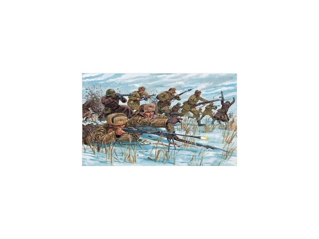 1766 model kit figurky italeri 6069 wwii russian infantry winter unif 1 72