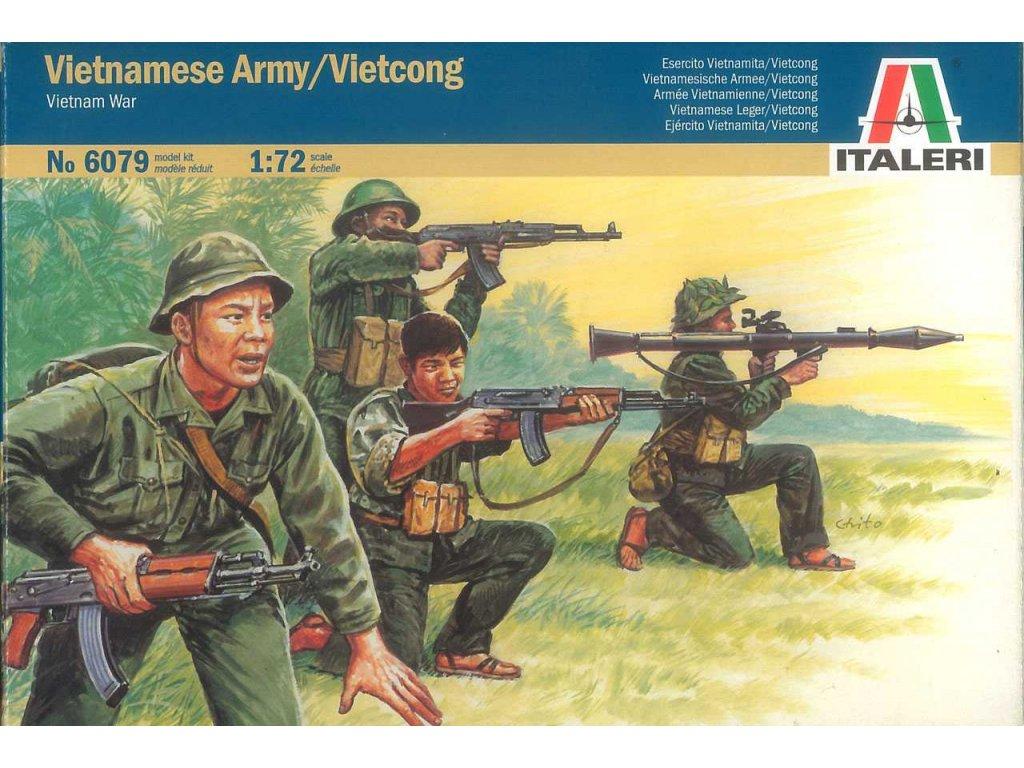 1772 model kit figurky italeri 6079 vietnam war vietnamese army vietcong 1 72