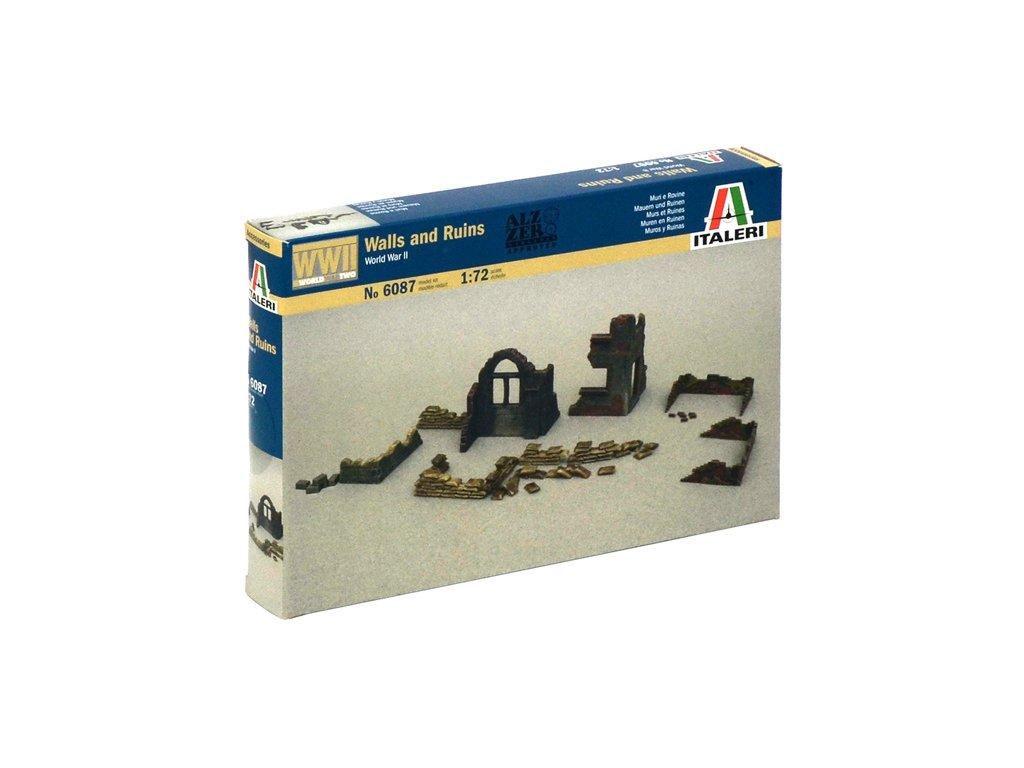 1778 model kit doplnky italeri 6087 walls and ruins 1 72