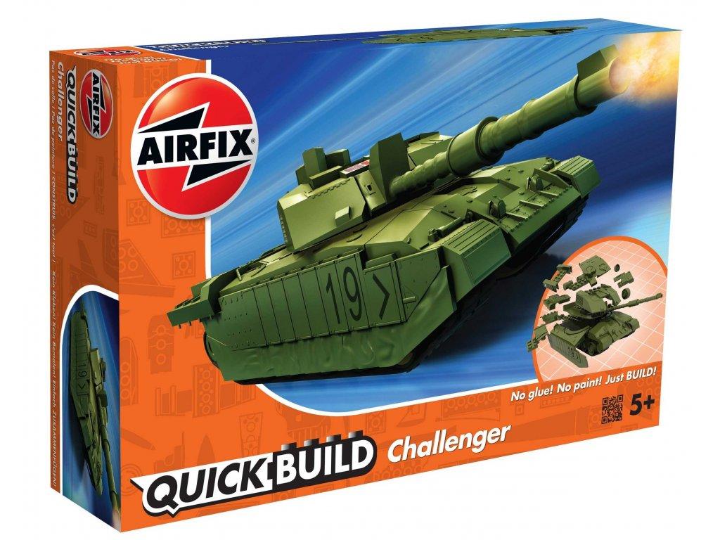 179 quick build tank airfix j6022 challenger tank zelena