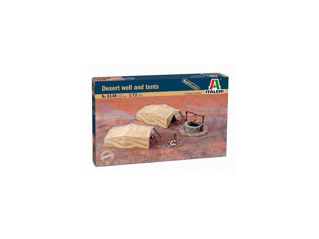 1820 model kit doplnky italeri 6148 desert well and tents 1 72