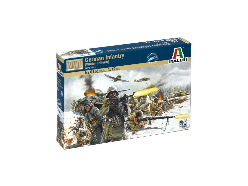 1823 model kit figurky italeri 6151 wwii german infantry winter uniform 1 72