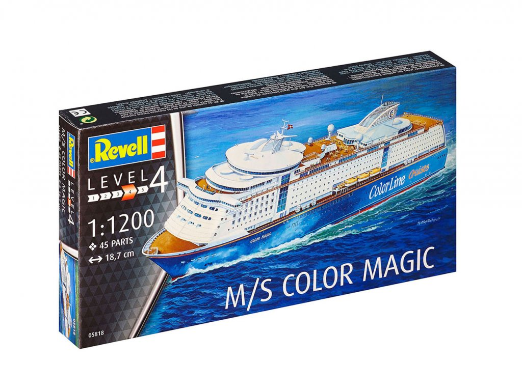 1829 plastovy model lod revell 05818 m s color magic 1 1200