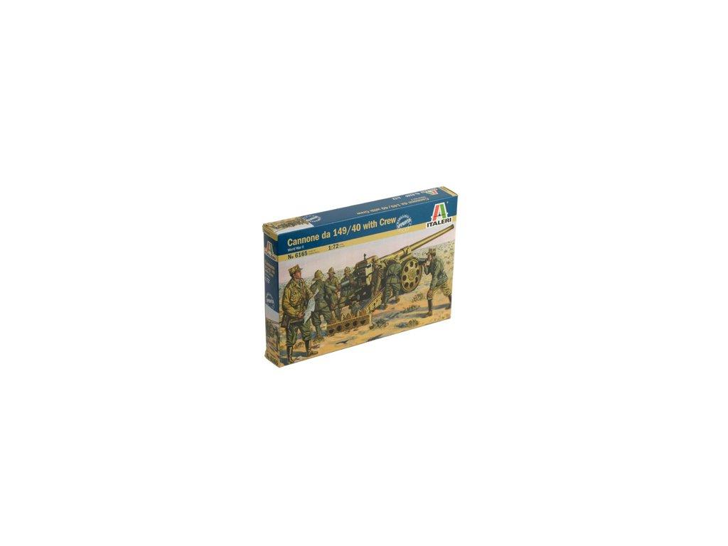 1835 model kit figurky italeri 6165 wwii cannone da 149 40 with crew 1 72