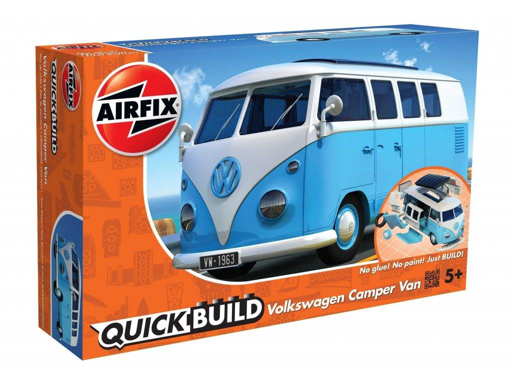 185 quick build auto airfix j6024 vw camper van modra