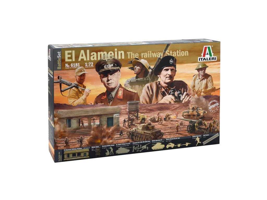 1853 model kit diorama italeri 6181 el alamein war battleset 1 72