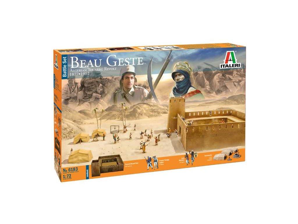 1856 model kit diorama italeri 6183 beau geste algerian tuareg revolt 1 72