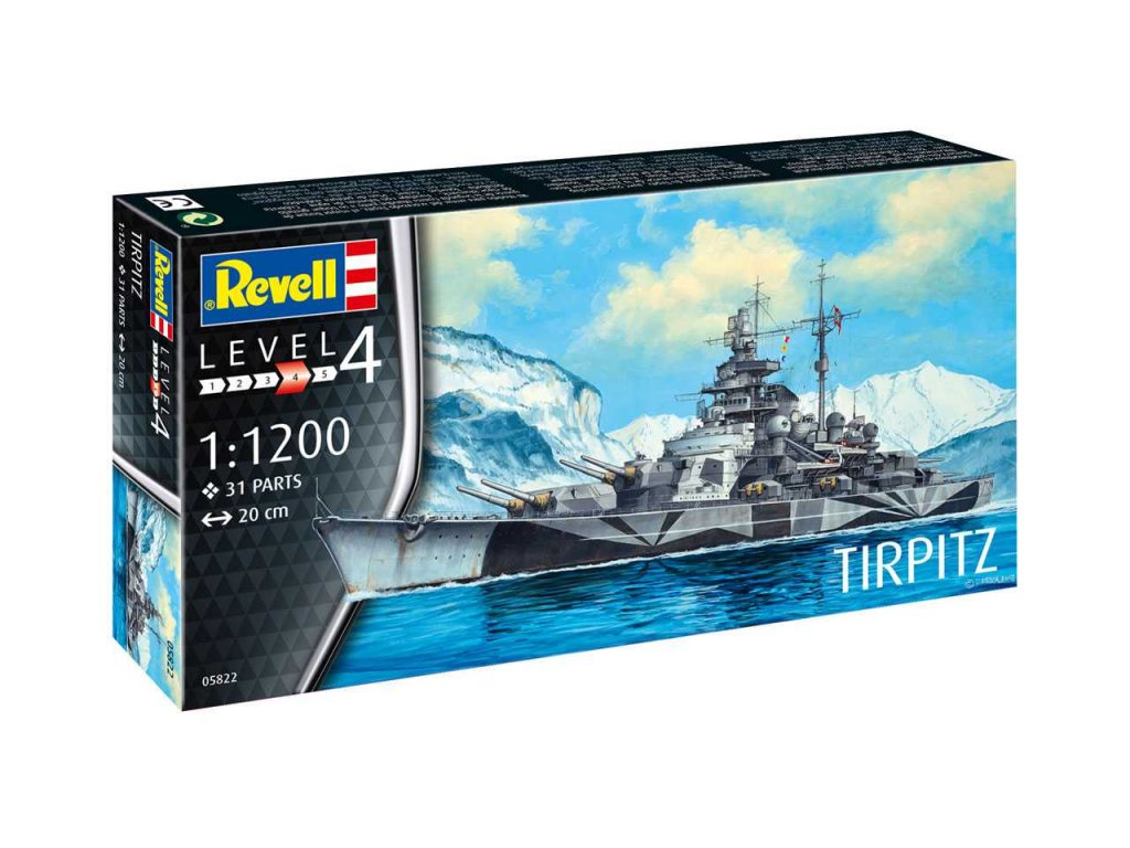 1862 plastovy model lod revell 05822 tirpitz 1 1200